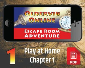 Online Escape Games - mobile phone showing pocket watch and torch