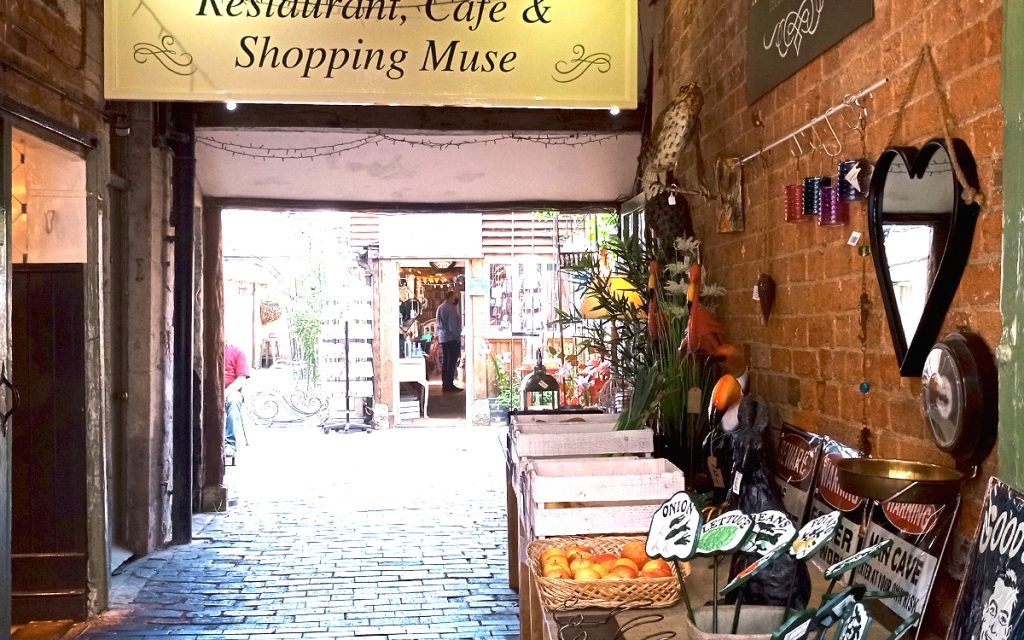 Relax after our Escape Room in Cirencester, Shopping in Cirencester, a little side alley