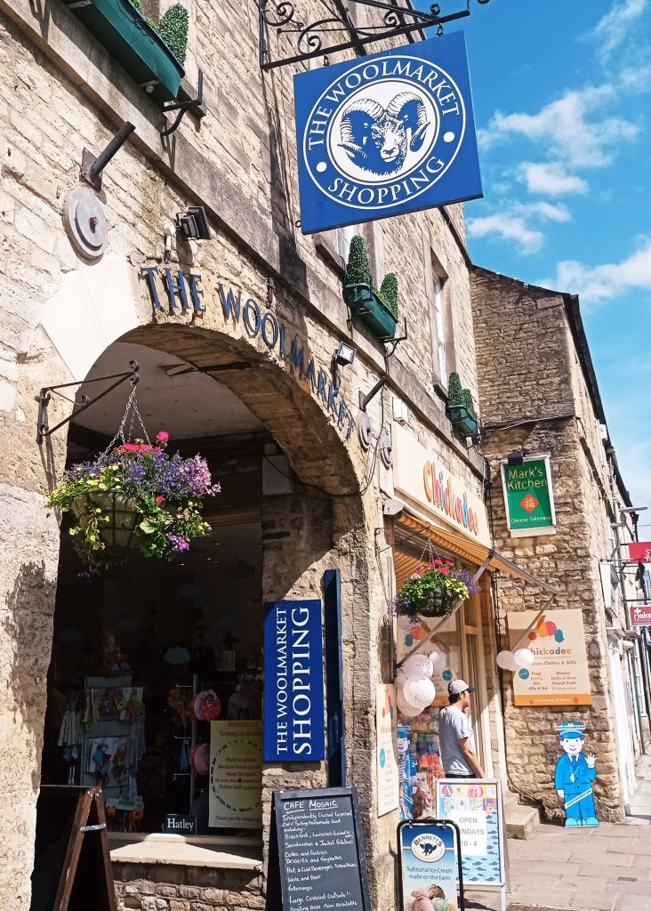 Relax after our Escape Room in Cirencester, the wool market with shops