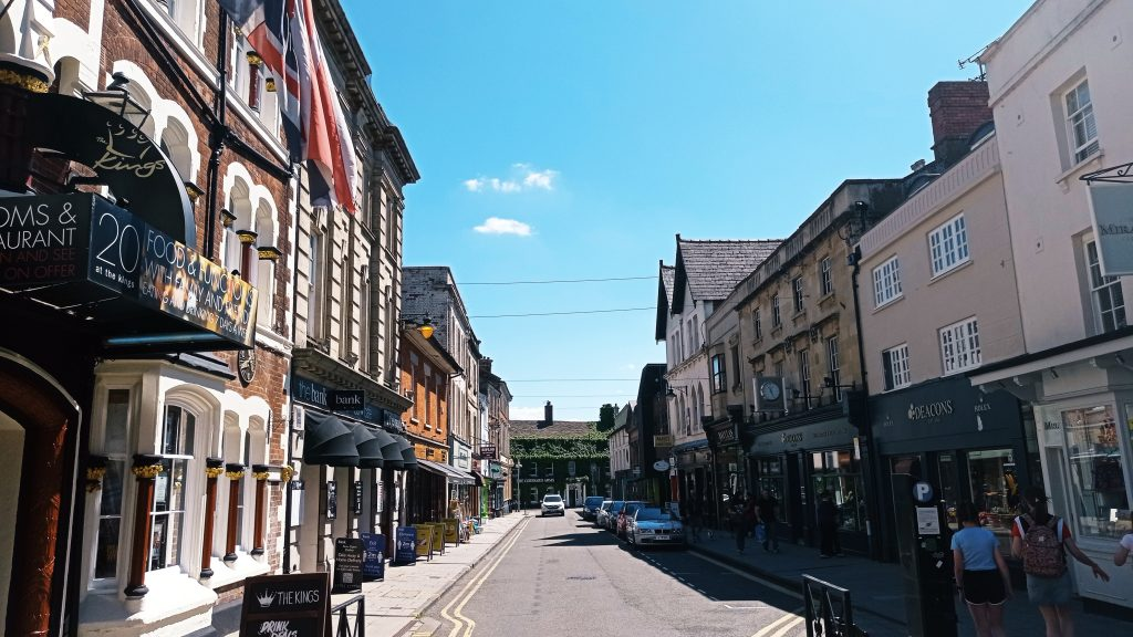 Things to do in Swindon - shops on Wood Street in Old Town