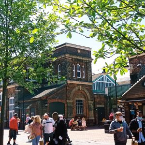 Things to do in Swindon, the Designer Outlet, located in an old railway building