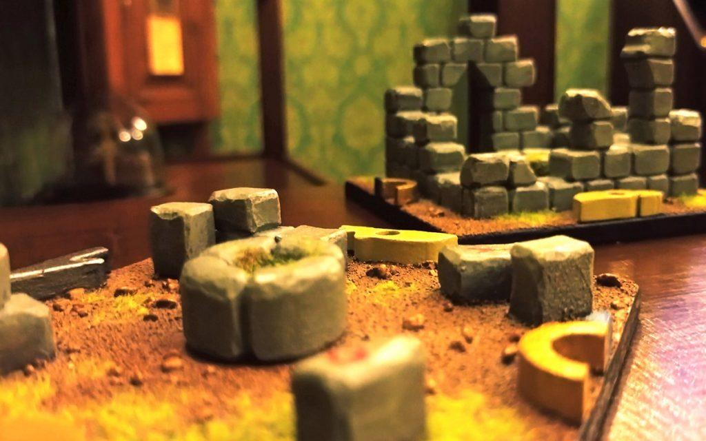 Escape Rooms in Swindon - Professor Dunstan, tiles with model of a ruin