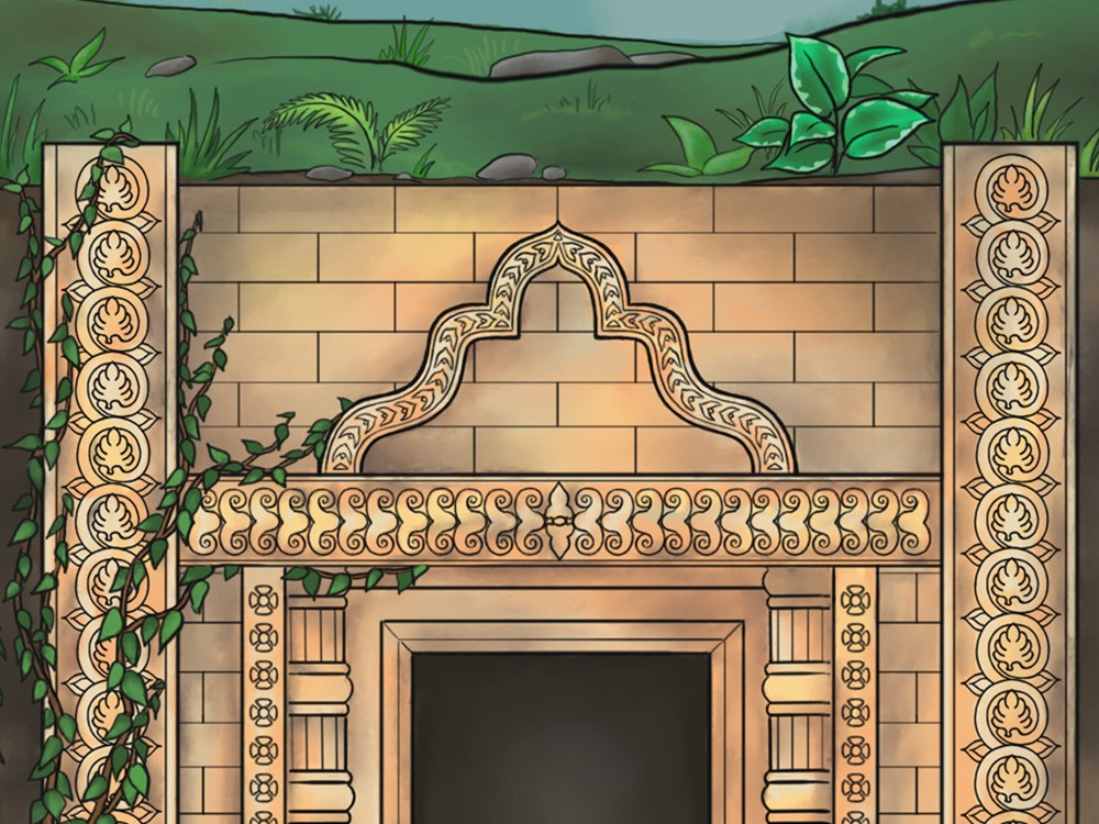 Play at home escape game - Oldervik Online, the tomb entrance