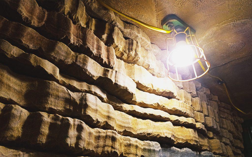 Sub Terra Escape Room rock wall