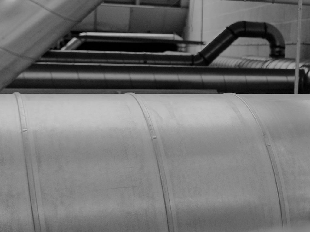 ventilation ducting at our escape room