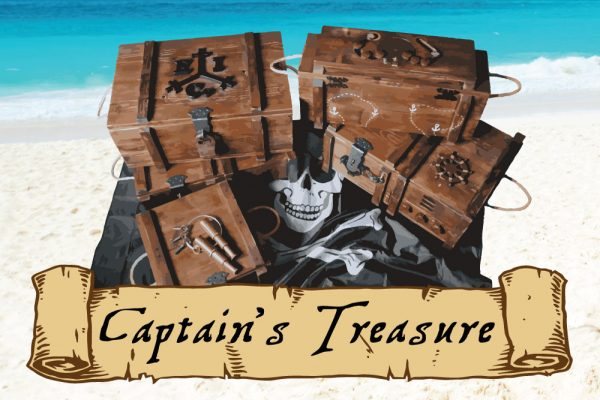 Swindon Escape Rooms - 5 crates containing a portable pirate game